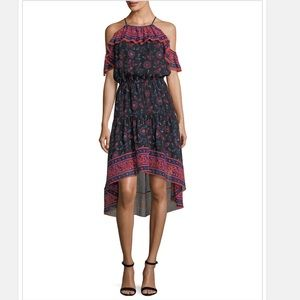 Joie Silk Floral High-low Midi Dress in Size Small